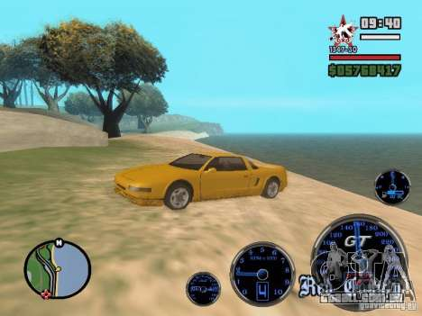 Speedometer GT para GTA San Andreas terceira tela
