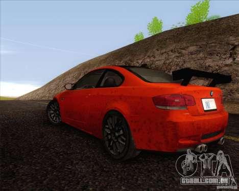 BMW M3 GT-S para GTA San Andreas vista direita