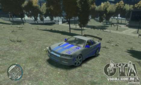Nissan Skyline GT-R34 para GTA 4 vista de volta
