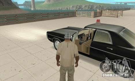 Plymouth Fury III Police para GTA San Andreas vista traseira