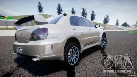 Subaru Impreza STI Wide Body para GTA 4 traseira esquerda vista