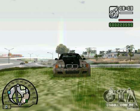 BMW E36 Wide Body Drift para GTA San Andreas esquerda vista