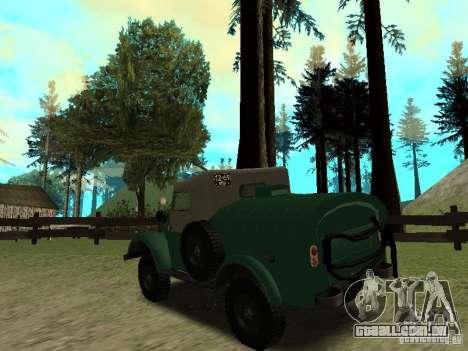 GAZ 69 APA 12 para GTA San Andreas traseira esquerda vista