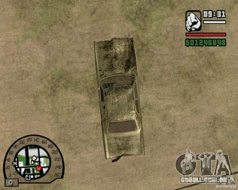 Plymouth Fury III para GTA San Andreas vista interior