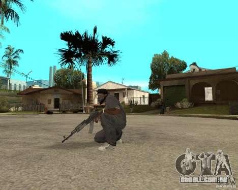 AK47 com a mira óptica padrão para GTA San Andreas terceira tela