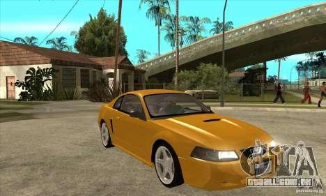 Ford Mustang GT 1999 - Stock para GTA San Andreas vista traseira