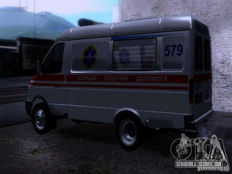 Ambulância de gazela 2705 para GTA San Andreas esquerda vista