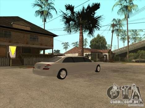 Mercedes-Benz Pullman (w221) SE para GTA San Andreas vista traseira