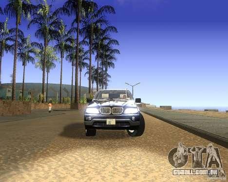 BMW X5 4.8 IS para GTA San Andreas traseira esquerda vista