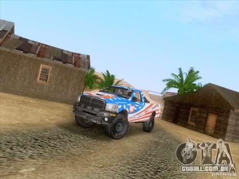 Dodge Ram Trophy Truck para GTA San Andreas vista interior