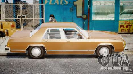 Ford Crown Victoria 1983 para GTA 4 esquerda vista