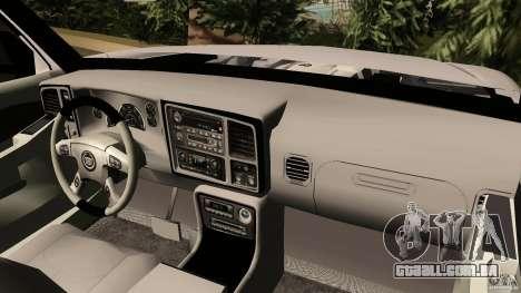Cadillac Escalade para GTA Vice City vista direita