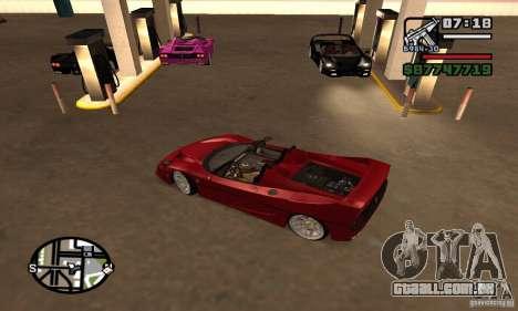 Ferrari F50 Cabrio para GTA San Andreas traseira esquerda vista