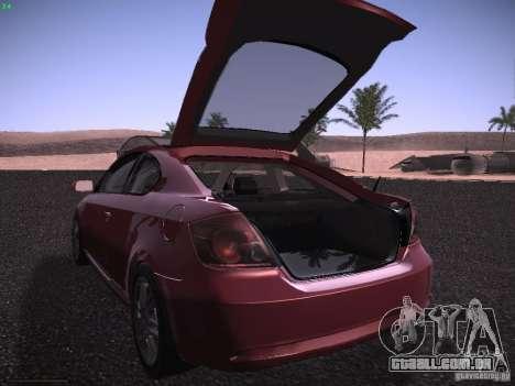 Scion tC para GTA San Andreas vista superior
