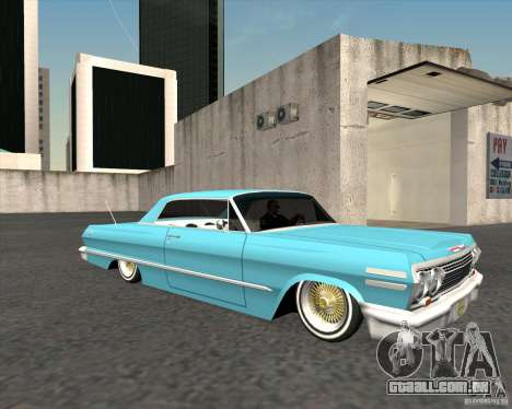 Chevrolet Impala 1963 lowrider para GTA San Andreas vista direita