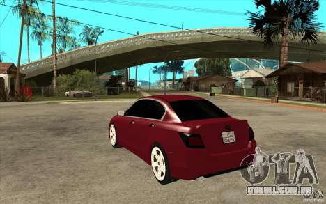 Honda Accord 2008 v2 para GTA San Andreas traseira esquerda vista