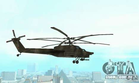 Mi-28 para GTA San Andreas vista interior