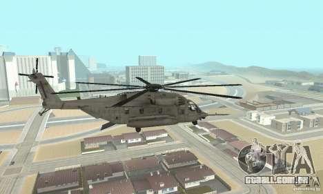 Sikorsky MH-53 para GTA San Andreas esquerda vista