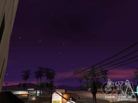 Timecyc - Purple Night v2.1 para GTA San Andreas nono tela