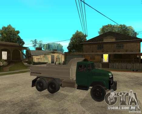 Caminhão ZIL 133 para GTA San Andreas vista direita