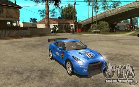 Nissan GT R Shift 2 Edition para GTA San Andreas vista interior