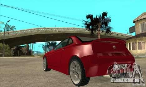 Alfa Romeo GTV para GTA San Andreas traseira esquerda vista