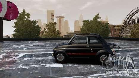 Fiat 500 695 Abarth para GTA 4 esquerda vista