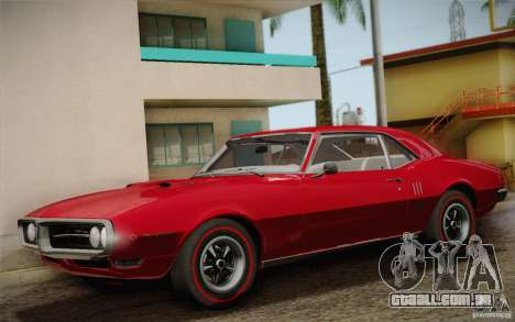 Pontiac Firebird 400 (2337) 1968 para GTA San Andreas interior