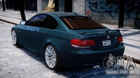 BMW M3 E92 stock para GTA 4 vista direita
