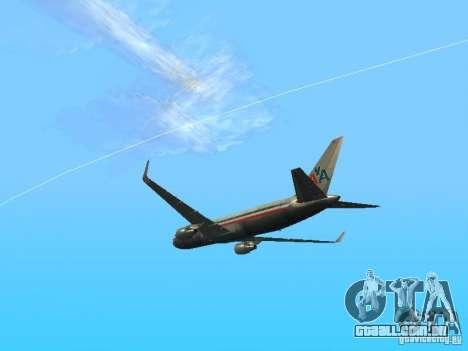 Boeing 767-300 American Airlines para GTA San Andreas vista direita