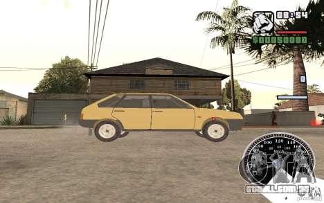 VAZ 21093i para GTA San Andreas traseira esquerda vista