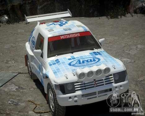 Mitsubishi Pajero Proto Dakar EK86 vinil 3 para GTA 4 vista lateral