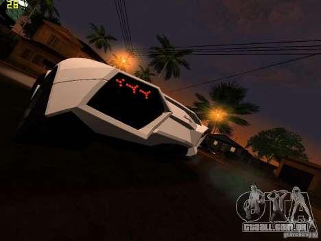 Lamborghini Reventon Roadster para GTA San Andreas traseira esquerda vista