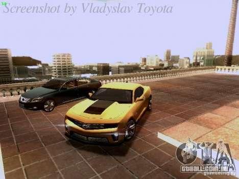 Chevrolet Camaro ZL1 2012 para GTA San Andreas vista inferior