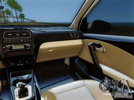Volkswagen Polo 6R TSI Edit para GTA San Andreas vista traseira