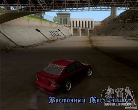 Lexus IS300 Hella Flush para GTA San Andreas vista traseira