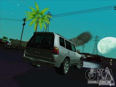 Mitsubishi Montero para GTA San Andreas traseira esquerda vista