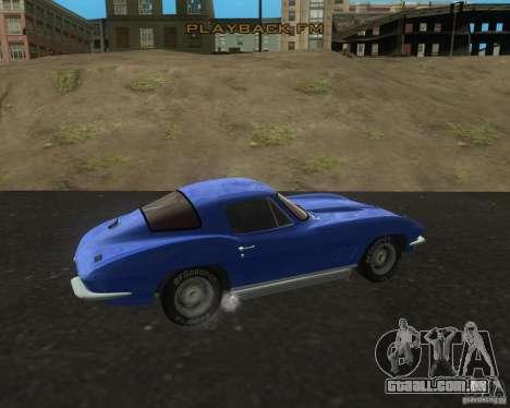 Chevrolet Corvette 427 para GTA San Andreas esquerda vista