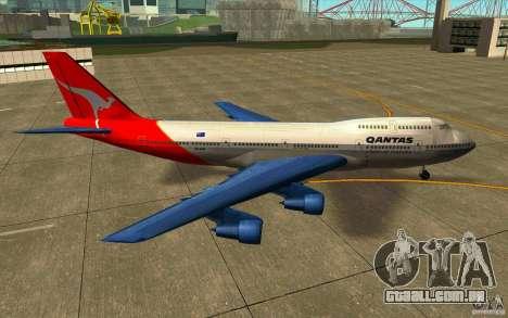 Boeing Qantas 747-400 para GTA San Andreas esquerda vista