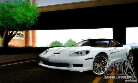 Chevrolet Corvette ZR-1 para GTA San Andreas esquerda vista