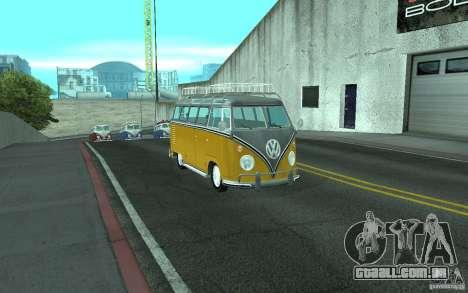 Volkswagen Transporter T1 SAMBAQ CAMPERVAN para GTA San Andreas vista direita
