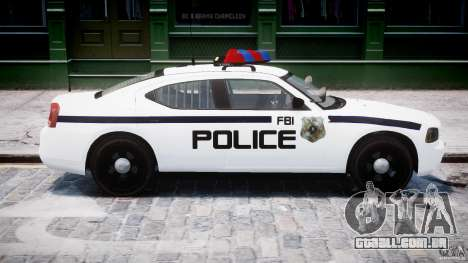 Dodge Charger FBI Police para GTA 4 vista lateral