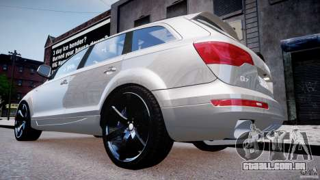 Audi Q7 LED Edit 2009 para GTA 4 vista direita
