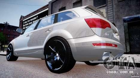 Audi Q7 LED Edit 2009 para GTA 4 vista direita