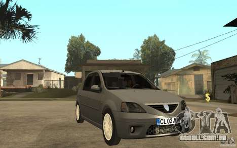 Dacia Logan Prestige 1.6 16v para GTA San Andreas vista traseira