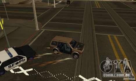 Os picos na estrada para GTA San Andreas segunda tela