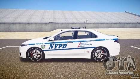 Honda Accord Type R NYPD (City Patrol 1090) ELS para GTA 4 esquerda vista