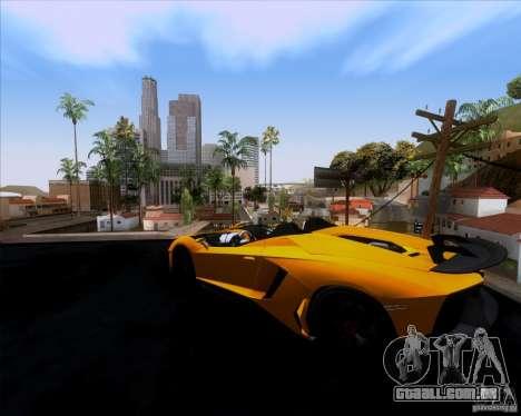 Lamborghini Aventador J TT Black Revel para GTA San Andreas esquerda vista