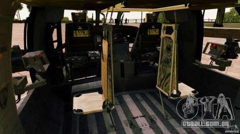 MH-60K Black Hawk para GTA 4 vista lateral