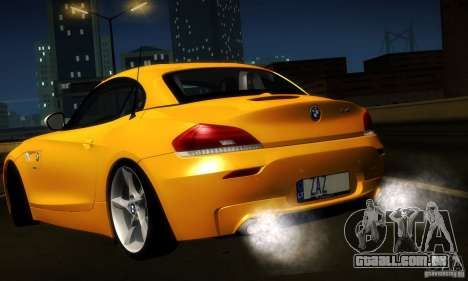 BMW Z4 Stock 2010 para GTA San Andreas vista interior